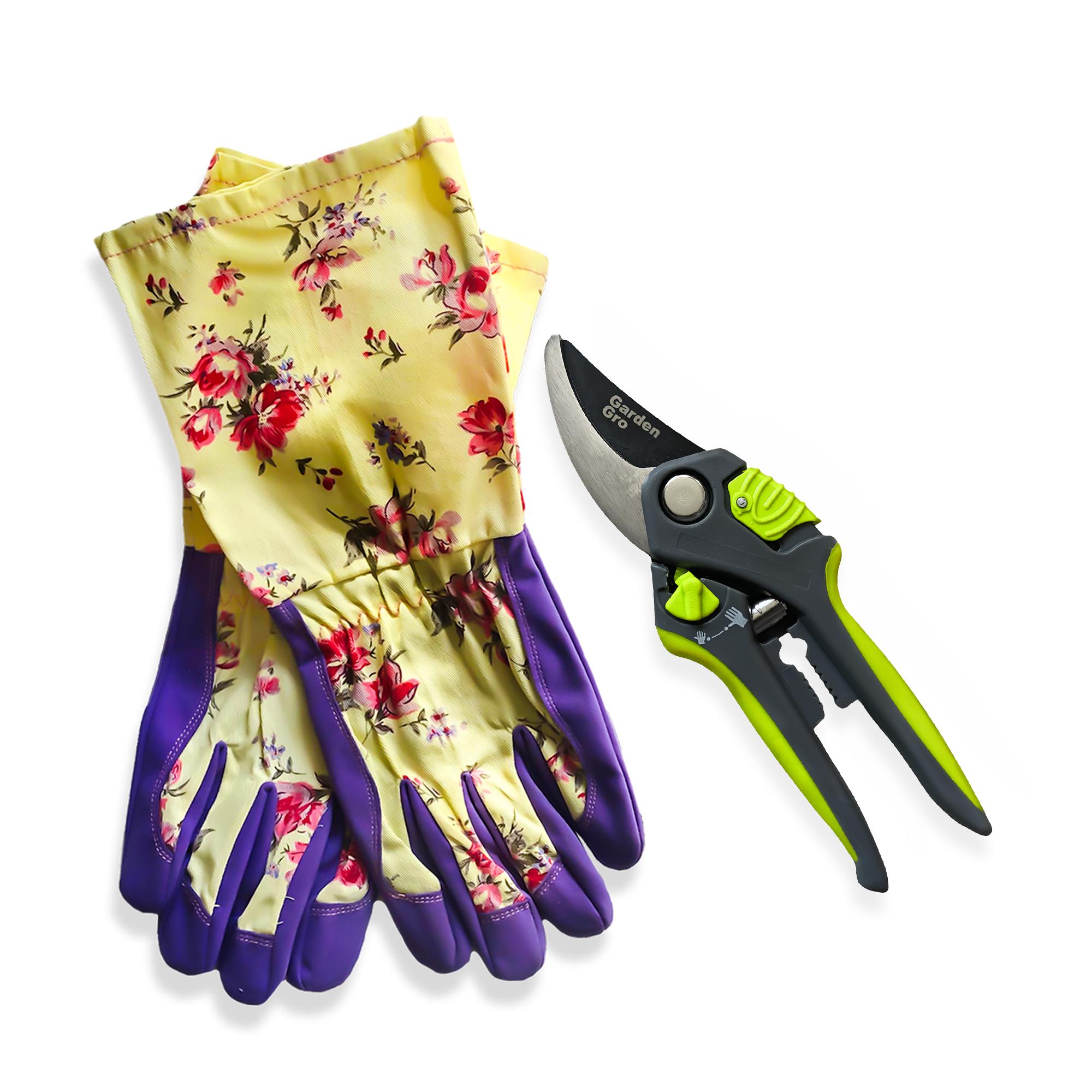 garden-gloves-&-adjustable-bypass-pruner-combo