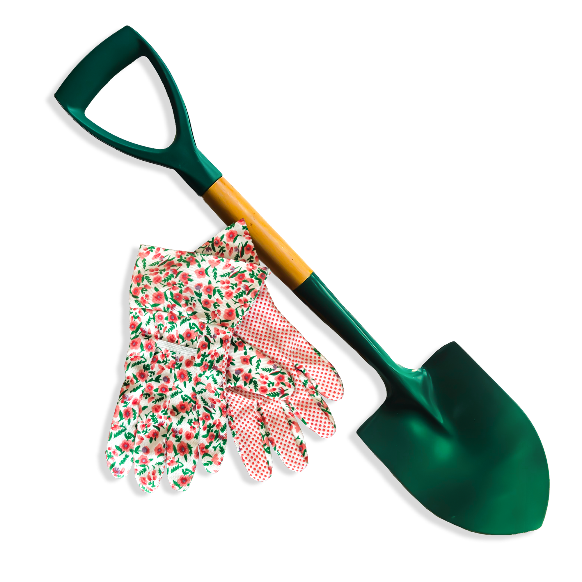 grovida-pink-&-green-fower-garden-gloves-&-small-shovel-combo